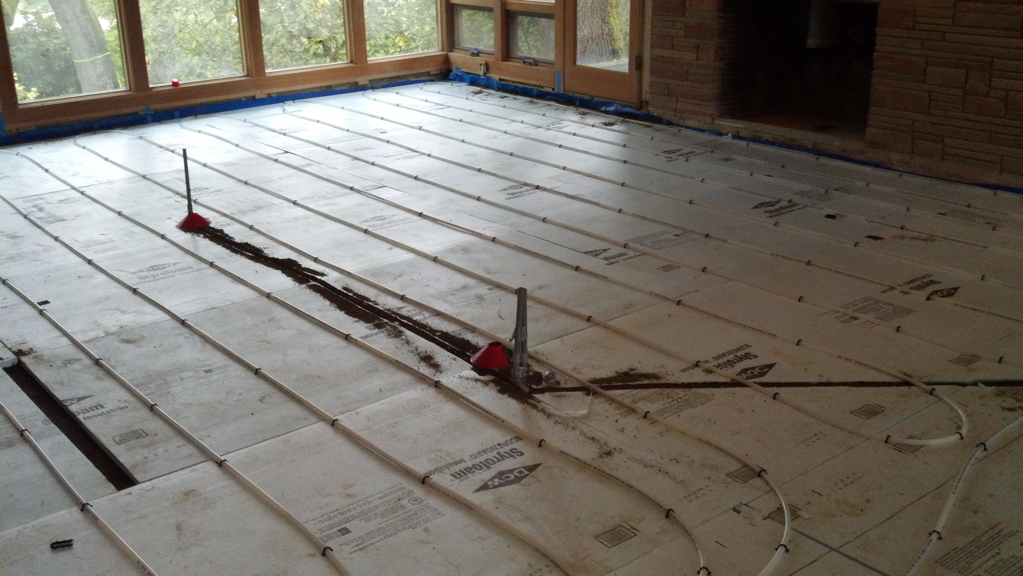 Radiant Floor Heating Install