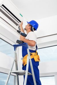 ductless-system-with-technician