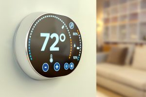 smart-thermostat-installed-in-home